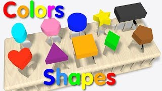 """Learning Shapes and Colors for Children...."""" Educational for Young Minds"""""""