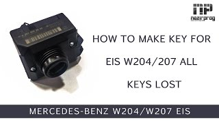 How to make key for EIS W204/W207 All keys lost by VVDI MB - NazirProg