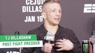 TJ Dillashaw furious at Post Fight Press Conference: