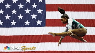 Simone Biles debuts two historic moves to lead at US Nationals | NBC Sports
