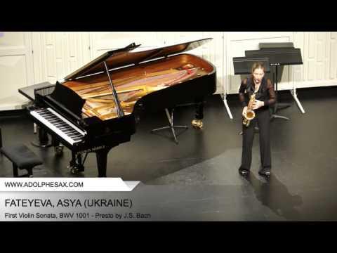 Dinant 2014 - Fateyeva, Asya - First Violin Sonata, BWV 1001 - Presto by J.S. Bach