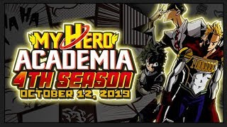 My Hero Academia Season 4 Returns October 12th 2019 - My Hero Season 4 News, New Poster & More!