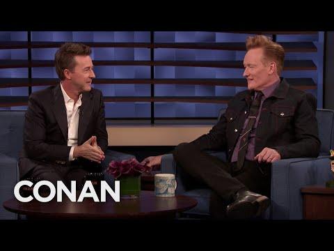 Edward Norton Thinks Conan Has A Twitchy Energy - CONAN on TBS