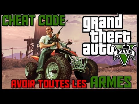 gta v cheat code avoir toutes les armes weapons cheat code youtube. Black Bedroom Furniture Sets. Home Design Ideas