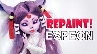 Repaint! Espeon Pokemon Eeveelutions Custom OOAK Monster High Doll