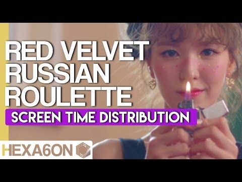 Red Velvet - Russian Roulette Screen Time Distribution (Color Coded)