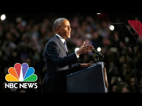 President Barack Obama's Farewell Address (Full Speech) | NBC News