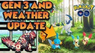 Generation 3 and Weather Update Pokemon GO  Gameplay   | Christmas Update |