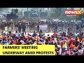 Farmers Meeting Underway Amid Protests | NewsX