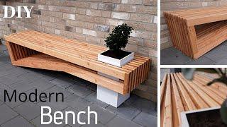 Modern Bench DIY/ Gartenbank selber bauen/ Easy Outdoor Bench/ Bank aus Holz selber bauen/Sitzbank