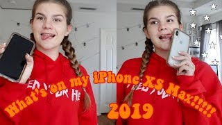 What's on my iPhone Xs Max