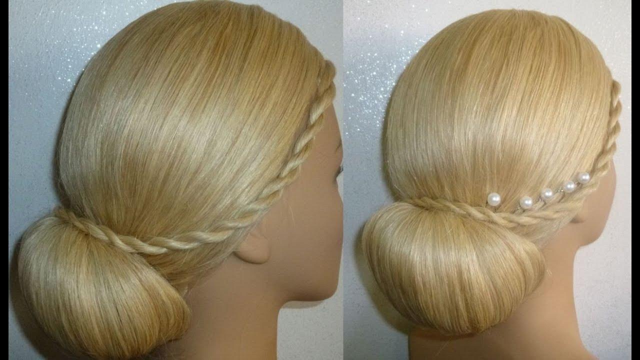 frisur mit duttkissen dutt hochsteckfrisur abiballfrisur donut hair bun updo hairstyle peinados. Black Bedroom Furniture Sets. Home Design Ideas