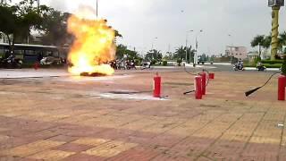 Agribank hậu giang diễn tập phòng cháy chữa cháy