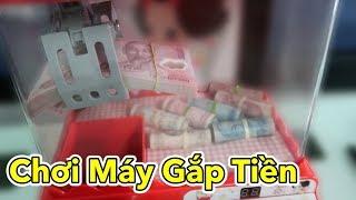Lâm Vlog - Chơi Máy Gắp Tiền Thật | Money picker
