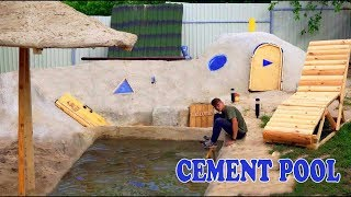 CEMENT POOL -  3-STORY UNDERGROUND HOUSE