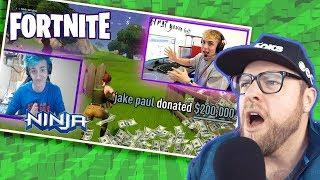 Jake Paul Exploits Ninja and his Fortnite Success