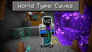 Can You Beat Minecraft in a World that's ONLY CAVES?