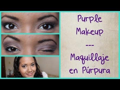 Purple makeup - Maquillaje en color purpura