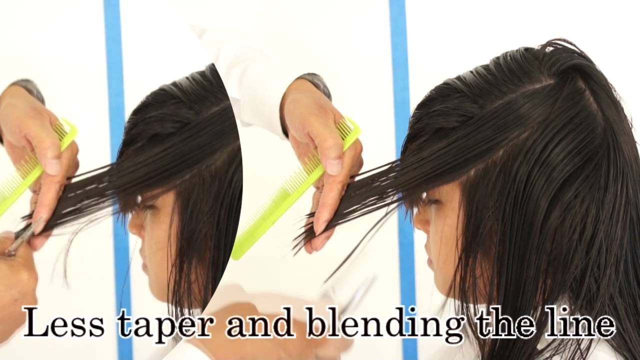 Long Layer Haircut With Bang, #4 Left Side Taper