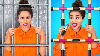 HOW TO BRING MAKEUP TO JAIL    Cool Ideas To Makeup Anything Anywhere by 123 GO!