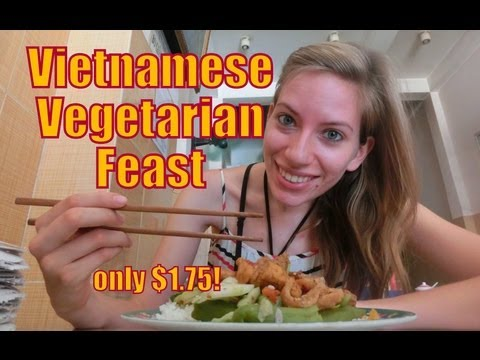 0 Delicious Vietnamese vegetarian feast at a local Vietnamese restaurant in Nha Trang, Vietnam