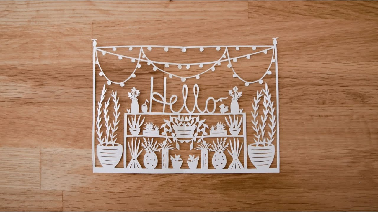 PAPER CUTTING: Introduction to Paper Cutting with Grace Hart - Part 1