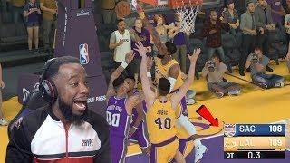 I Got The Game Winning BLOCK In OVERTIME! Lakers vs Kings NBA 2K19 Ep 44