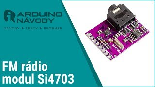 FM RDS Radio Si4703 Module Tuner For AVR, ARM, PIC, Arduino