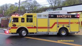 Thornwood FD Engine 88 + Car 2471 + Tower Ladder 1 + Rescue 75 + Utility 55 Responding