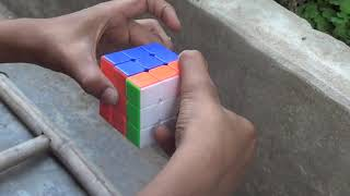 how to solve a 3x3x3 rubik's cube fastest way .tricks for 3x3x3 cube trick 5 cube solce