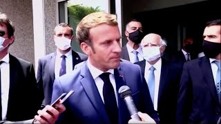 Macron visits Beirut after explosion