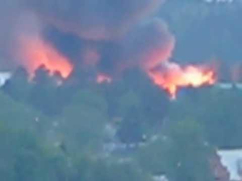 Пожар в Парголово 28.05.2012г.
