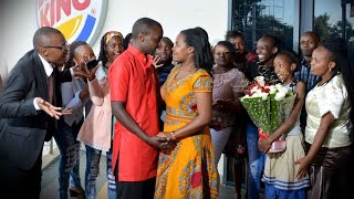 SEE HER REACTION. Proposal @Two Rivers Mall, KENYA BEST SURPRISE EVER @BurgerKing. VisualDo Flashmob