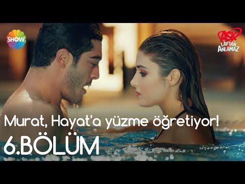 Aşk Laftan Anlamaz 6.Bölüm | Murat, Hayat'a yüzme öğretiyor