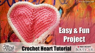 Learn How to Crochet Hearts with Red Heart Yarns