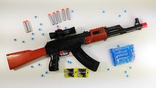 Toy Guns Toys for Kids - REALISTIC ASSAULT SUPER AK47 - 2in1 Function - Green Safe - 6+ AGES