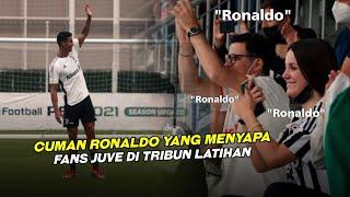 BETAPA RAMAHNYA RONALDO ❤️ Lihat Cara C. Ronaldo Bikin Seneng Fans Saat Di Latihan Juventus
