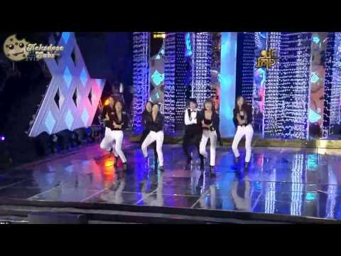 [HD Live] SNSD & f(x) - Sorry Sorry (Super Junior Cover) [German Subs]