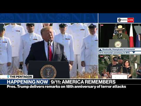 President Trump and first lady attend 9/11 memorial service