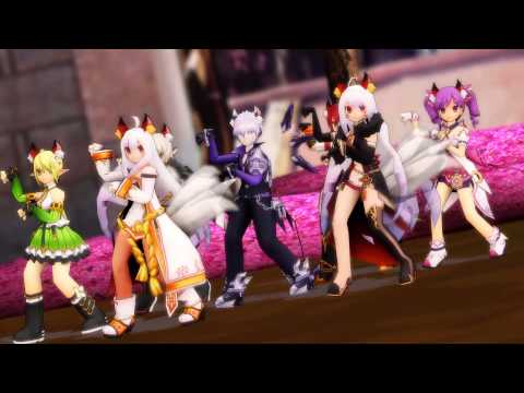 [MMD Elsword] What does the fox say?