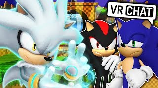 Sonic & Shadow Meet Silver The Hedgehog! (VR Chat)