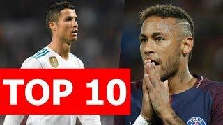 Top 10 cầu thủ hưởng lương cao nhất thế giới