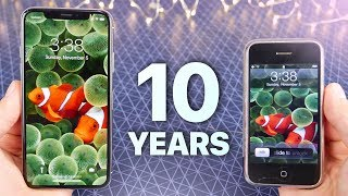 iPhone X vs First iPhone! 10 Year Comparison