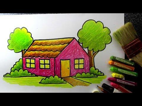 Cara Menggambar Rumah Untuk Sd Versi Lambat Videomoviles Com