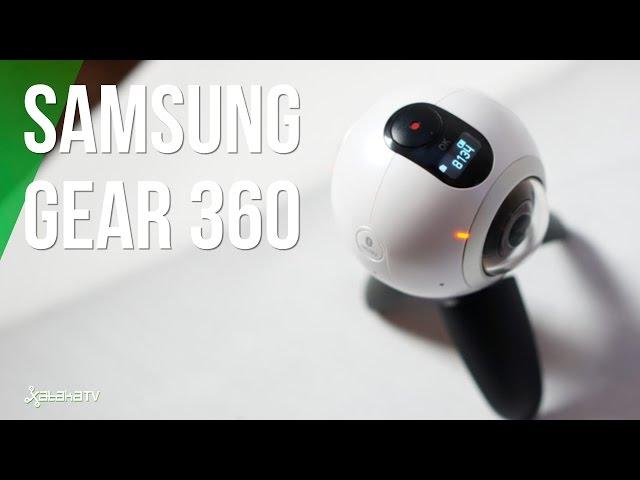 ¿Cómo es la cámara Samsung Gear 360?
