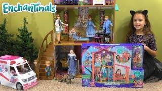 Frozen Princess Story with Anna and Elsa, Barbie Ambulance and Enchantimals: Little Anna is Sick