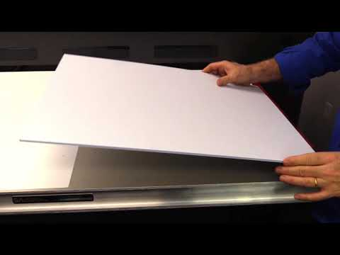 See the vacuum bed for UV printing in action.