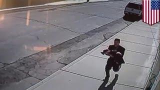 كاميرا مراقبة تلتقط تسجيلاً لرجل يحاول خطف طفل رضيع في ولاية واشنطن