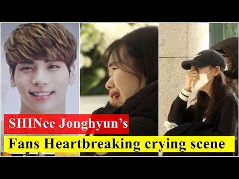 Jonghyun's fans Sad Heartbreaking crying scene