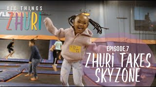 Zhuri, Bronny and Bryce take Skyzone!!